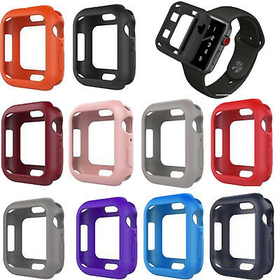 Soft Silicone Bumper Protective Cover Case for Apple Watch Series 4 40mm/44mm