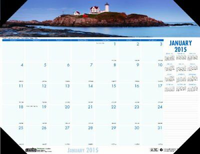 House of Doolittle Earthscapes Coastlines Compact Desk Pad Calendar 12 Months to