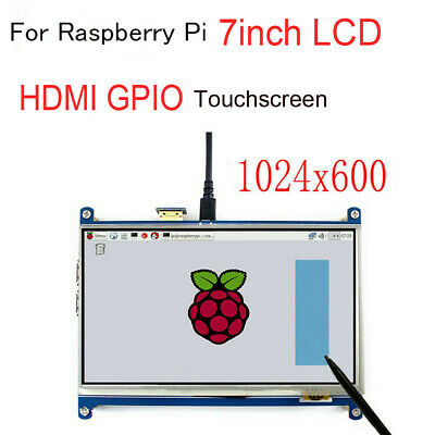 7inch HDMI TFT LCD Display GPIO Resitive Touch Screen 1024x600 For Raspberry Pi
