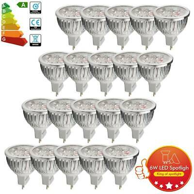 UK High Power 10/12/20/30x MR16 6W LED Bulb 420lm Downlight 50W Halogen Lamps