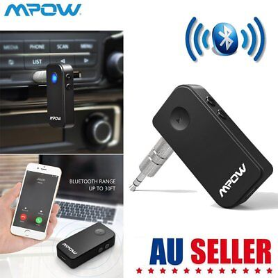 MPOW 3.5mm Wireless Bluetooth Stereo Car Phone AUX Audio MP3 Receiver Adapter AU