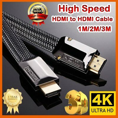 AU HDMI Cable v2.0 Ultra HD 4K 2160p 1080p 3D High Speed Ethernet ARC HEC 1m-3m