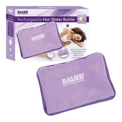 Bauer Electric Rechargeable Cordless Hot Water Bottle Hand Warmer Heat Pad