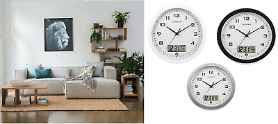 Champion wall clock Calendar Analogue Digital  Silent sweep 12 Months warranty