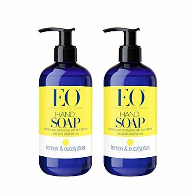 Eo Lemon And Eucalyptus Hand Soap With Lavender And Thyme Essential Oils, 12 ...