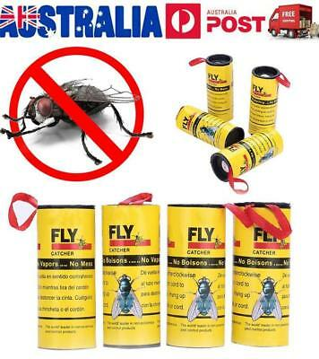 16 Rolls Insect Bug Fly Glue Paper Catcher Trap Ribbon Strip Sticky Tape Flies