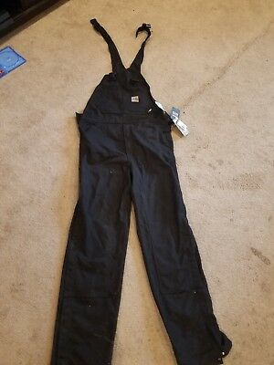 FR Flame Resistant Carhartt Duck Bib Unlined Overalls Brand New 34x36 cat 2