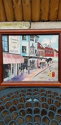 original painting on board brighton the lanes