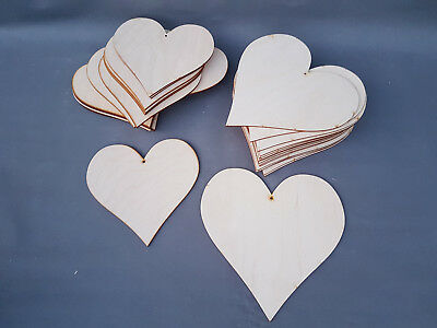 HEART SHAPE LARGE WOODEN HEARTS PLAYWOOD CRAFT SHAPES UNPAINTED 20-25 cm BULK