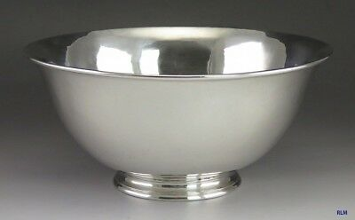 Antique Hand Wrought Arthur Stone Sterling Silver Serving Bowl