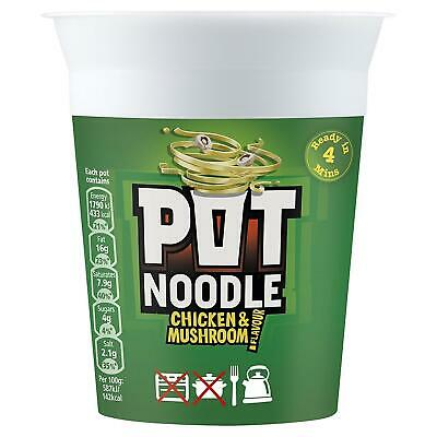 Pot Noodle Chicken and Mushroom - Pack of 12