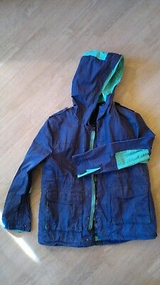 ZARA navy boy's coat age 13-14 yrs removable liner good condition