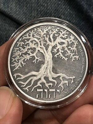 2018 1oz Niue .9999 Silver $2 Tree of Life Coin BU Low Mintage Rate Antique Box