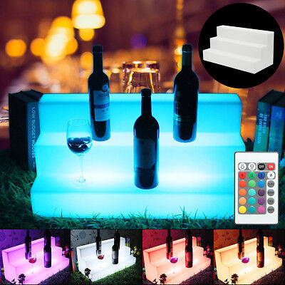 24 Led Lighted Glowing Liquor 3 Step Bottle Display Shelf Home Back Bar Rack