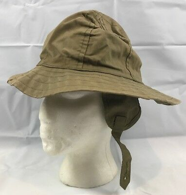 Scarce WW2 US Army Synthetic Coated Rain Hat Dated 1942