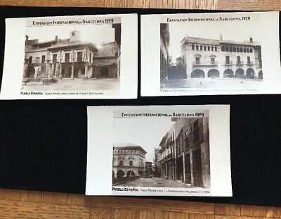 Barcelona International Exposition 1929. Lot Of 3 Real Photo Postcards Unmailed