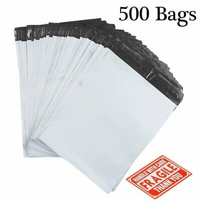 500 Poly Mailers 12x15.5 Postal Bags Shipping Envelopes Mailing Bags 2.5 Mil