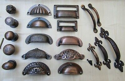 Cast Iron Rustic Chest Drawer Wardrobe Kitchen Cupboard Cabinet Door Handles