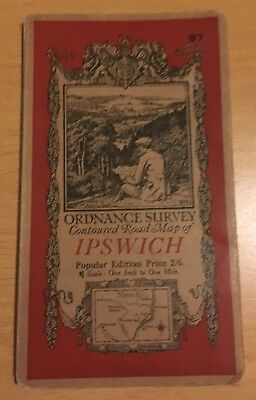 Vintage Ordnance Survey Map of Ipswich sheet 87 c1931