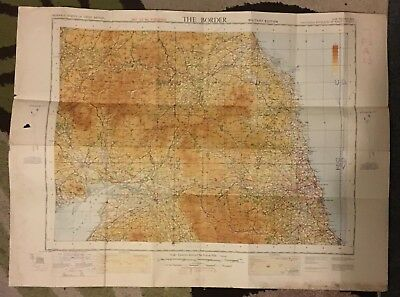Vintage WW2 War revision map of The Border 1940