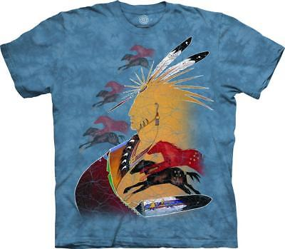 The Mountain Native American Indian Tribal Future Horse Vision T Shirt Tee S-5XL