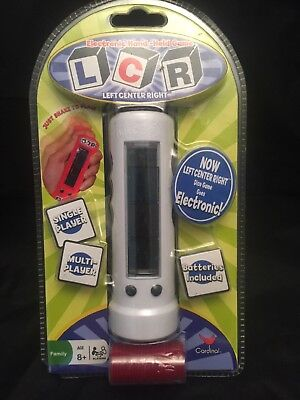 LCR Left Center Right Electronic Hand-Held Game Cardinal NIB Travel White