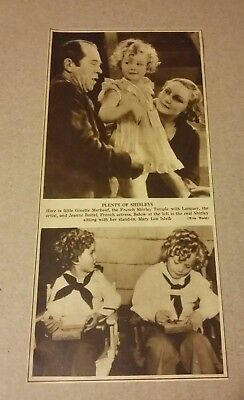 1936 Shirley Temple With Stand In Mary Lou Isleib Photo Ad