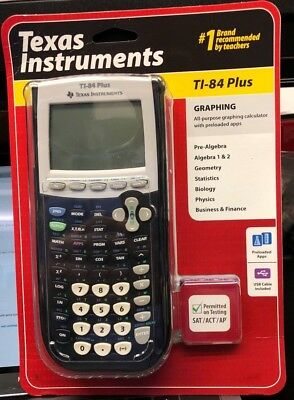 Texas Instruments Ti-84 Plus Graphing Calculator New