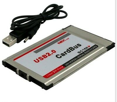 PCMCIA to USB 2.0 CardBus Dual 2 Port 480M Card Adapter for Laptop Notebook