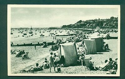 CHALKWELL BAY,WESTCLIFF WITH TENTS, vintage postcard
