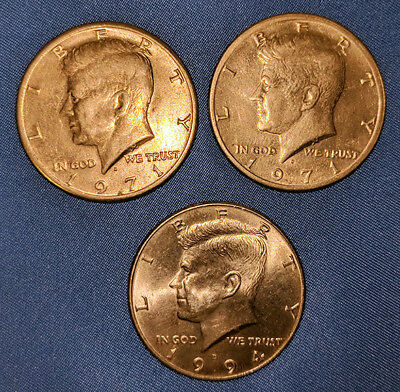 Kennedy Half Dollars - Lot of 3 - (2) 1971-D & (1) 1994-D