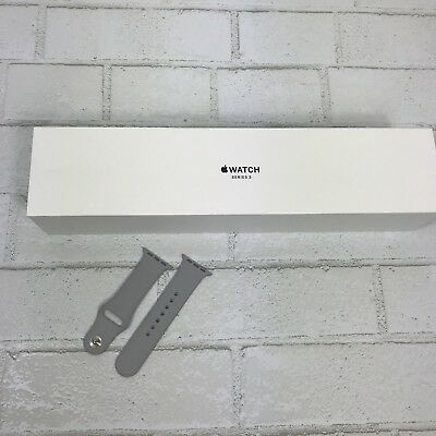 Apple Watch Series 3 Box 38mm Silver BOX ONLY + Extra Band (Fog) With Manual.