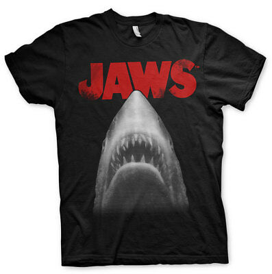 Official Licensed Jaws - Jaws Poster Men's T-Shirt S-XXL, 3XL (Black)