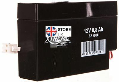 12V 0.8Ah LEAD-ACID BATTERY CE  HQ  62.3 x 25 x 96.5mm  Extreme High Quality