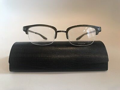 Barton Perreira Eyeglasses Malcolm Kelp Pewter 48-20-140 Titanium Made In Japan