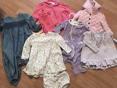 Polo, Ralph Lauren Toddler Girls LOT 7 Pieces Size 9-12 Month All Seasons