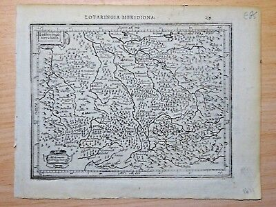 c1607 LOTHARINGIA MERIDIONA, [GERMANY, FRANCE] Antique Map EUROPE Atlas Minor