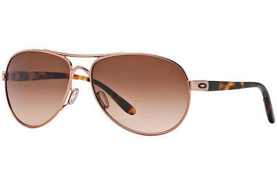 Oakley Feedback OO4079-01 Rose Gold Frame / Brown Gradient Lenses