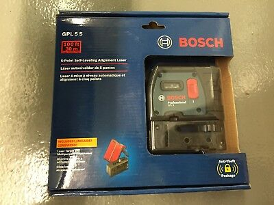 Brand New Bosch GPL 5S 5 Point Self leaving Alignment Laser Sealed GPL5S