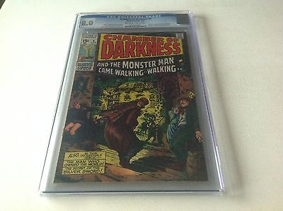 Chamber Of Darkness 4 Cgc 8.0 1St Conan Try Out Barry Smith Marvel Comics