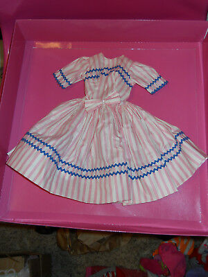 """Vintage  Madame Alexander Cissy Tagged Pink and White Striped Dress for 21"""" Doll"""