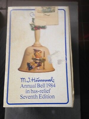 M.j.hummel Goebel Annual Bell 1984 In Bas-Relief Seventh Edition