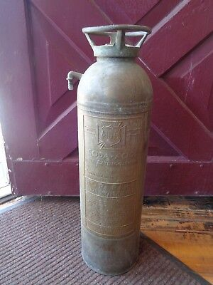 Vintage Fire Extinguisher - American LaFrance ALFCO Copper Brass