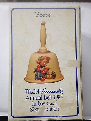 Annual Bell 1983 In Bas-Relief Sixth Edition M.j.hummel Goebel