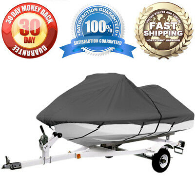 Waterproof PWC Cover Fit For 116'' - 126'' Long Personal Watercraft 600 Denier