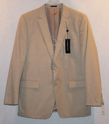 Andrew Fezza Mans Tan Cotton 2 Button Jacket / Blazer New With Tags