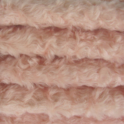 "1/6 yd 785S/C Pale Pink INTERCAL 3/4"" Med. Density Curly German Mohair Fabric"