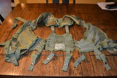 US Military Issue Enhanced Tactical Woodland Camo Load Bearing Vest LBV