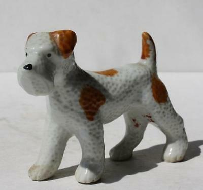 Wire Fox Terrier Dog Figure Ceramic-Porcelain Hand Painted Made in Japan VTG-#1
