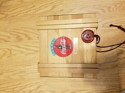 1996 Polonaise Coca Cola Ornament Wood Box Without Ornaments